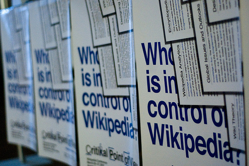 Who is in control of Wikipedia?